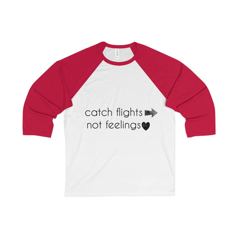 Catch Flights Baseball Raglan - White/Red / S - Long-sleeve
