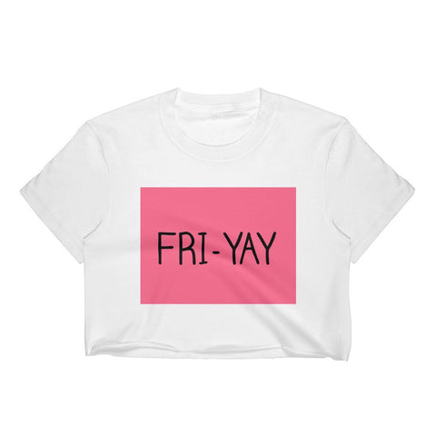 Fri-Yay Womens Crop Top - White / S - XL - crop top