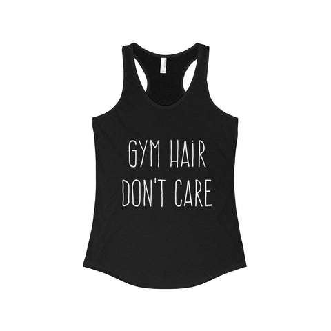 Gym Hair Womens Racerback Tank - Solid Black / XS - Tank Top