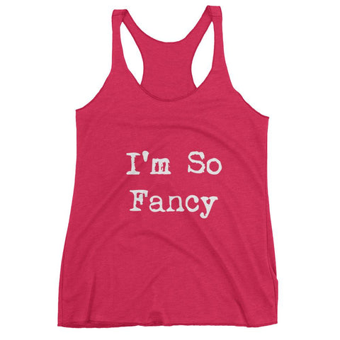 Im So Fancy Womens tank top - Vintage Shocking Pink / XS - racerback