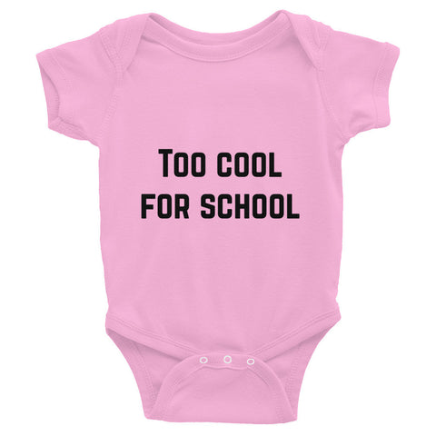 Too Cool Infant Bodysuit - Pink / 6M - onesie