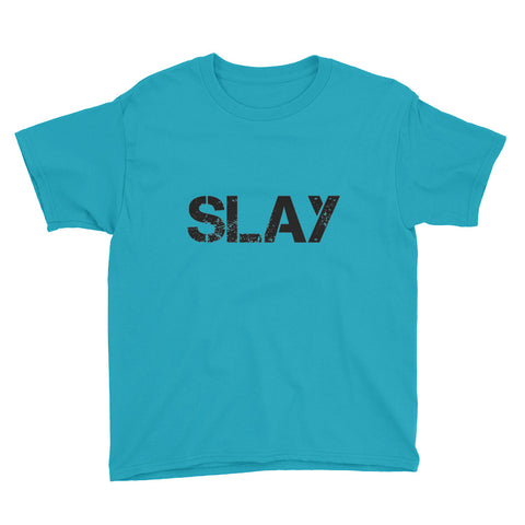 Slay Youth Short Sleeve T-Shirt - Caribbean Blue / XS - T-Shirt