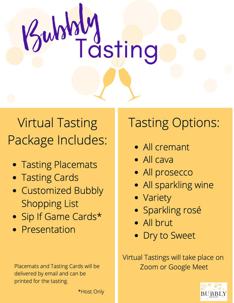 Virtual Bubbly Tasting Party