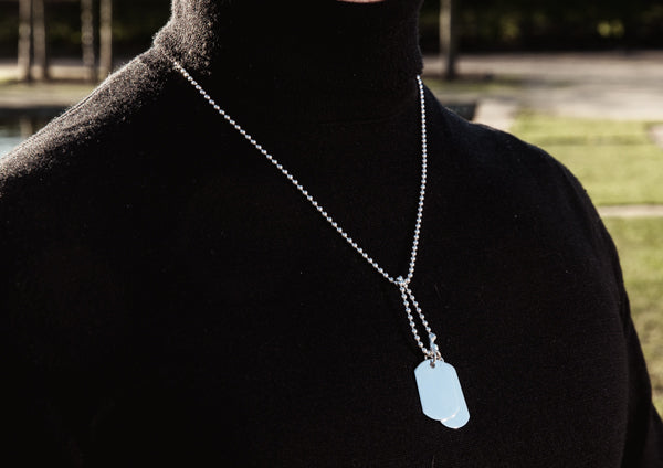 Silver Double Dogtag Necklace