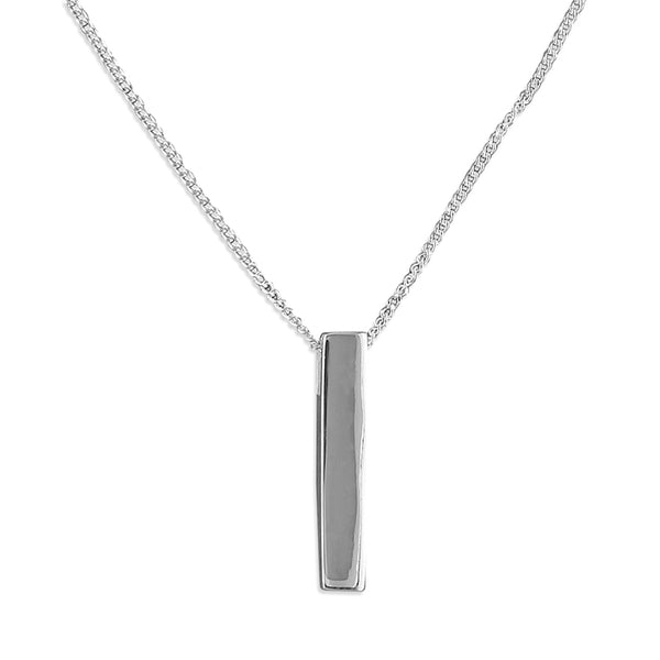 Silver Plain Bar Necklace