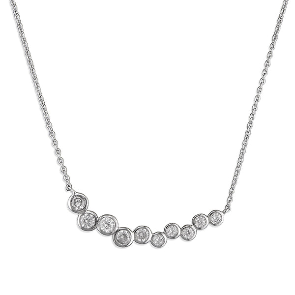 Cubic Zirconia Row Necklace
