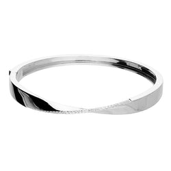 Cubic Zirconia Twist Bangle
