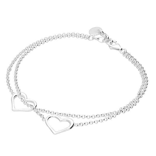 Double Open Heart Bracelet