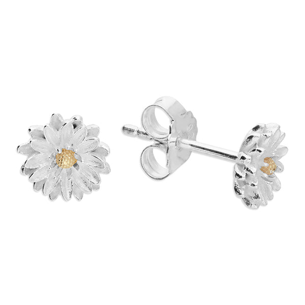 Silver Aster Flower Studs