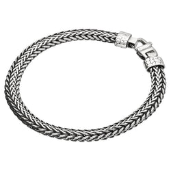 Men's Oval Herringbone Bracelet