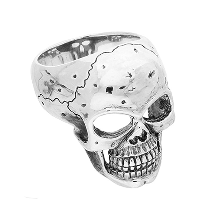 Large Grinning Skull Ring