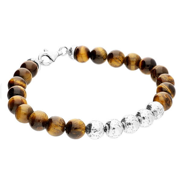 Men's Tiger's eye Beaded Bracelet