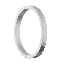 Thin Satin Hammered Band