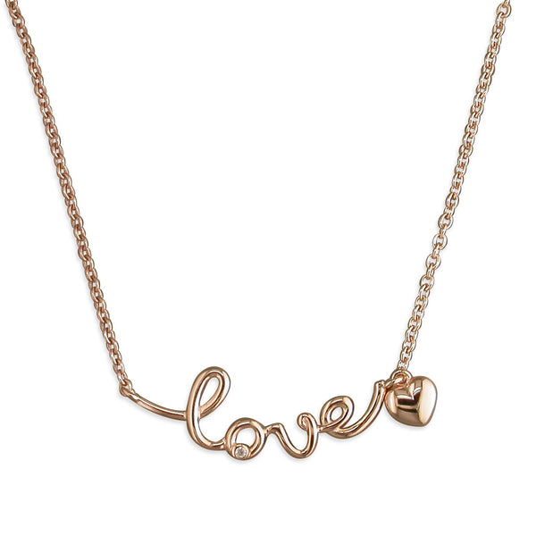 Rose Gold Plated LOVE Necklace