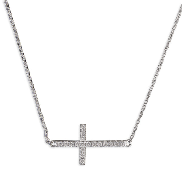 Cubic Zirconia Resurrection Cross Necklace
