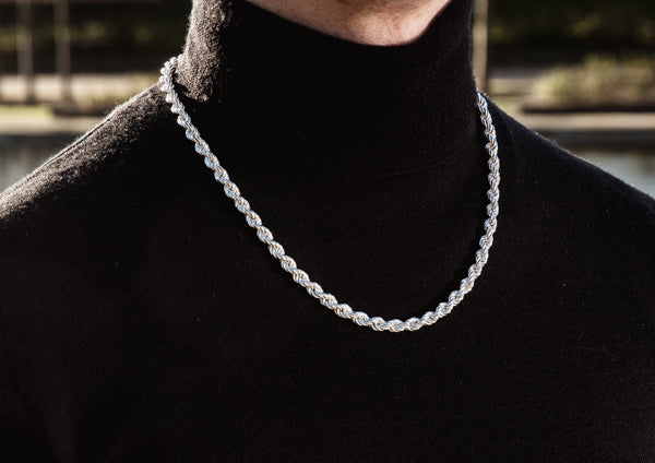 Thick Silver Rope Chain