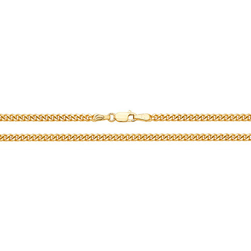 Medium 9ct Gold Close Curb Chain