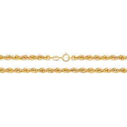 Medium 9ct Gold Rope Chain