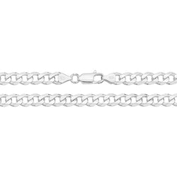 Medium Silver Curb Chain