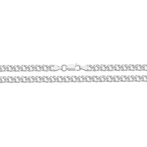 Silver Double Curb Chain