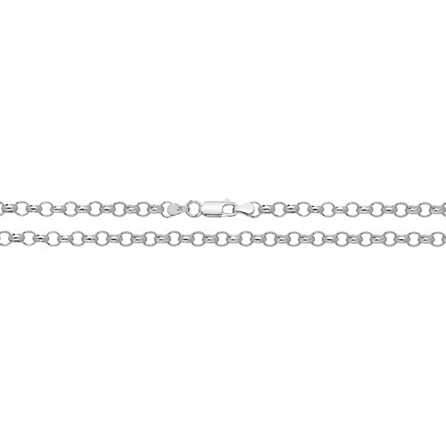 Medium Silver Round Belcher Chain
