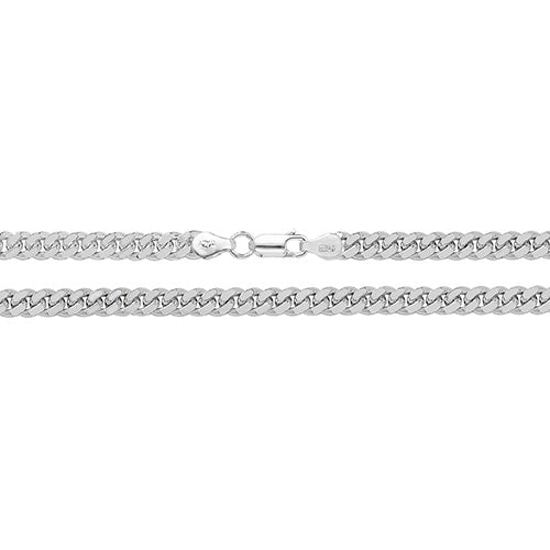 Medium Silver Close Curb Chain