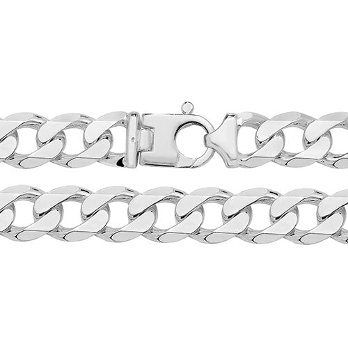 Heavy Silver d/cut Curb Chain