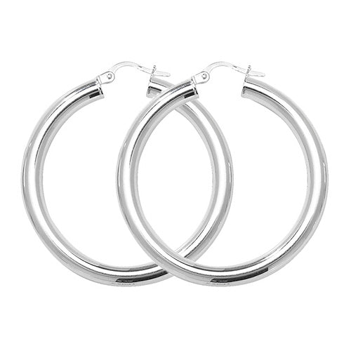 Sterling Silver Medium Thick Hoops