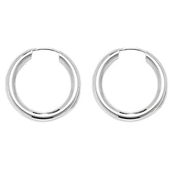 Sterling Silver Plain Lobe Hugging Hoops