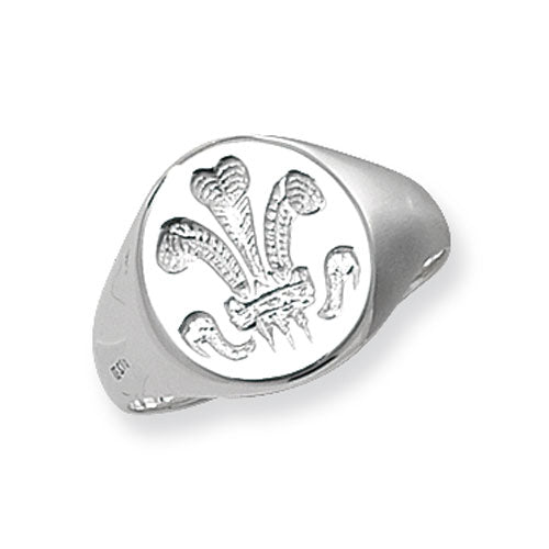 Silver Welsh Feather Ring