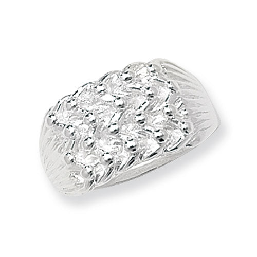 Silver 4 Row Keeper Ring