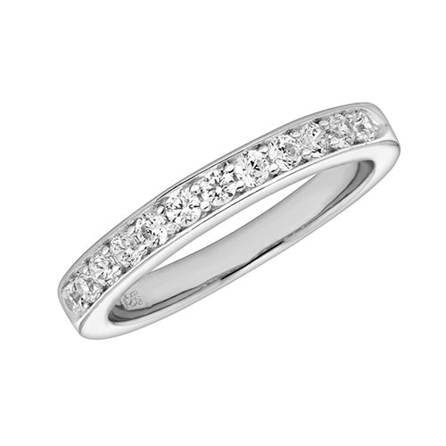 Dainty Silver Cubic Zirconia Ring