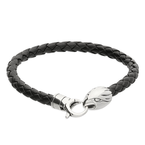 Silver & Leather Animal Bracelet
