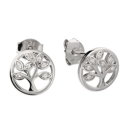 Sterling Silver Tree Of Life Studs