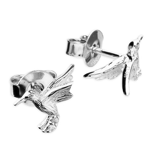 Sterling Silver Detailed Bird Studs