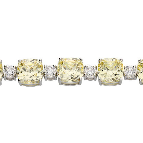 Starlet White Canary Yellow Cubic Zirconia Bracelet