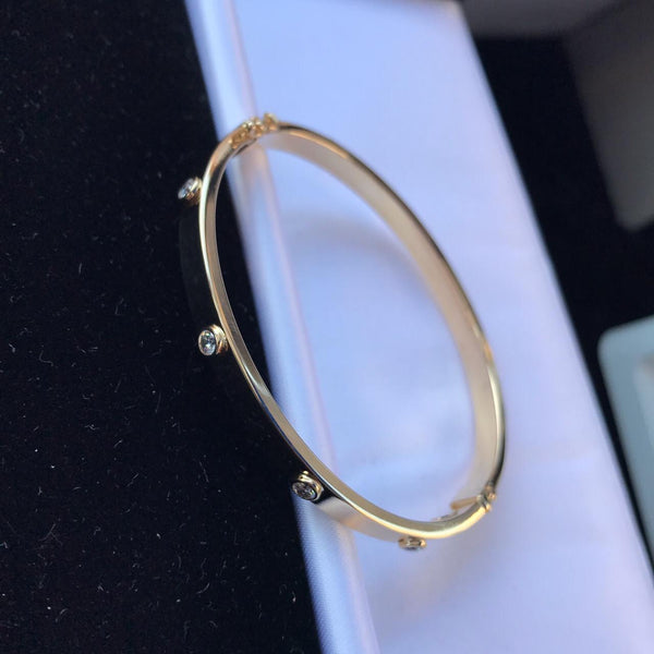 9ct Gold Cubic Zirconia Bangle