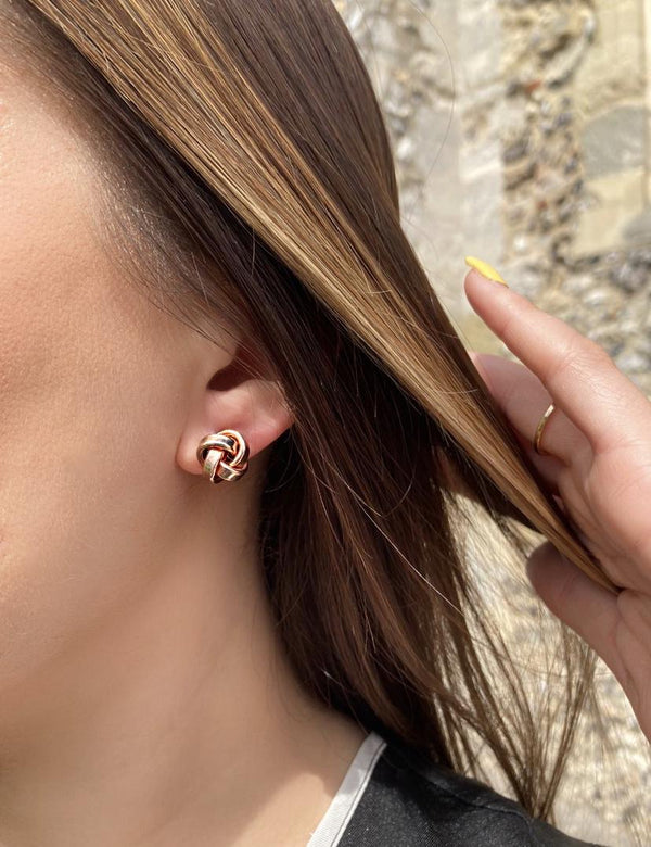 Rose Gold Knot Studs