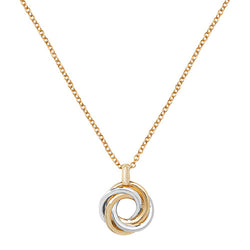 Gold Triple Trinity Ring Necklace