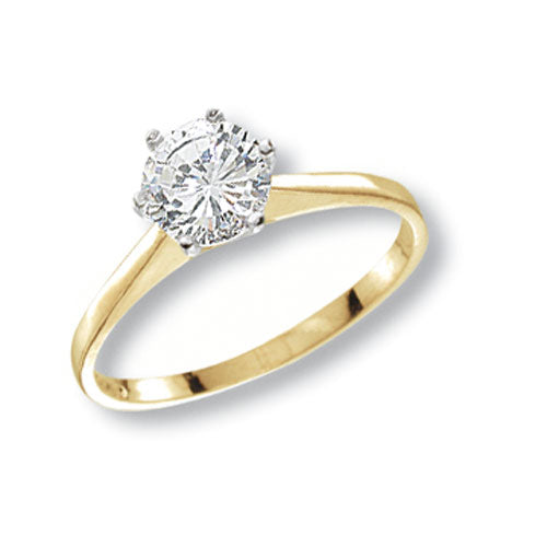 Ladies Solitaire Cubic Zirconia Ring
