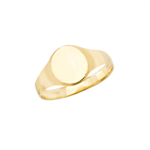 Tiny Face Gold Signet Ring