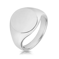 Large Silver Signet Ring