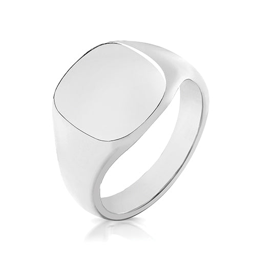 Silver Cushion Signet Ring