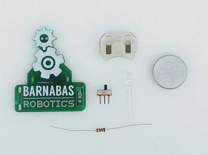 Barnabas LED Badge: Learn To Solder LED and Switch Kit (Ages 10+) Hardware Barnabas Robotics