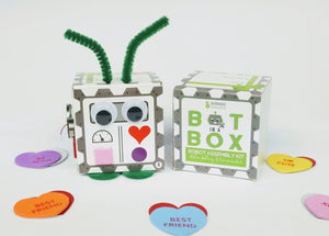 Bot In A Box Craft Robot | Stocking Stuffer | Party Favor | Valentine | Animal | Pack of 4, 8 or 10 | Ages 5+ Robot Party Favors Barnabas Robotics
