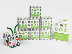 Bot In A Box Craft Robot | Stocking Stuffer | Party Favor | Valentine | Animal | Pack of 4, 8 or 10 | Ages 5+ Robot Party Favors Barnabas Robotics 8-Pack Classic Edition