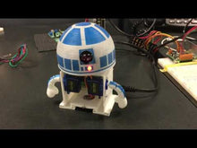 Load and play video in Gallery viewer, barnabas bot build your own robot kit arduino 2 servos 3-d printed robot r2-d2