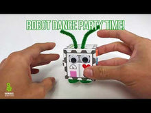 Load and play video in Gallery viewer, Bot In A Box Vibration Robot Craft Stocking Stuffer Barnabas Robotics Party Favor