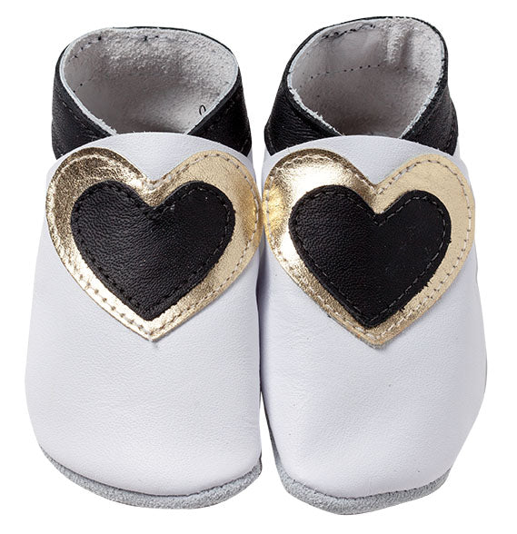 Hearts - White/Black/Gold