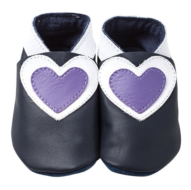 Hearts - Navy/White/Lilac